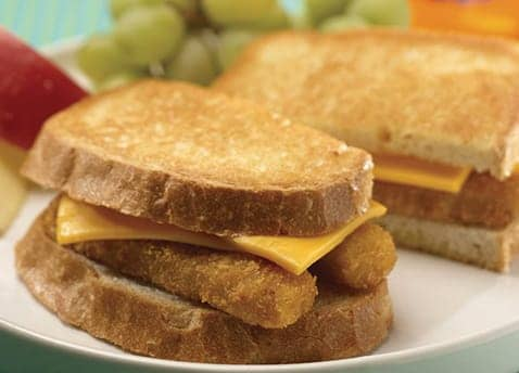Fish stick and cheese sandwich melt recipe gortons seafood for Fish stick sandwich