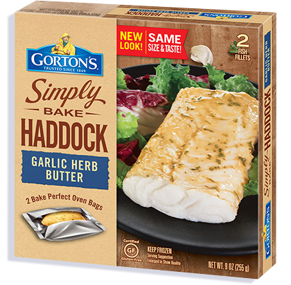 Simply Bake Haddock Garlic Herb Butter