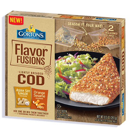 Flavor Fusions Cod Fillets: Asian Soy Ginger and Orange Sesame