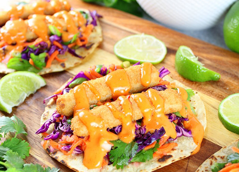 Sweet spicy fish tacos gorton s seafood for Fish stick sauce
